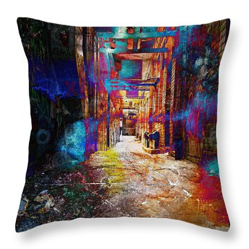 Throw Pillow featuring the photograph Snickelway Of Light by Phil Perkins