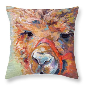 Snickers Throw Pillow by Kimberly Santini