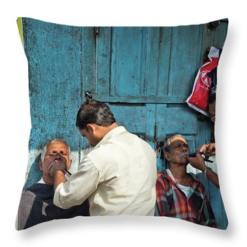 Snip And Tuck Throw Pillow by Marion Galt