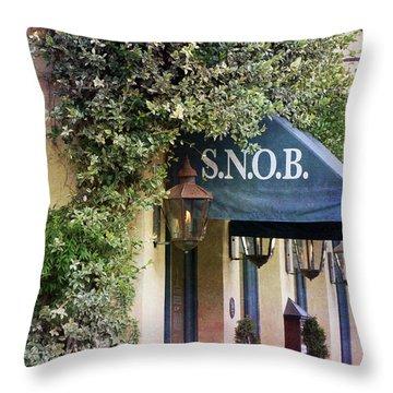Snob Throw Pillow