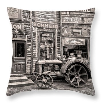 Snohomish Antiques Throw Pillow by Sonya Lang