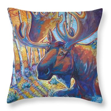 Snooze In The Aspens Throw Pillow