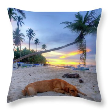 Throw Pillow featuring the photograph Snooze by Yhun Suarez