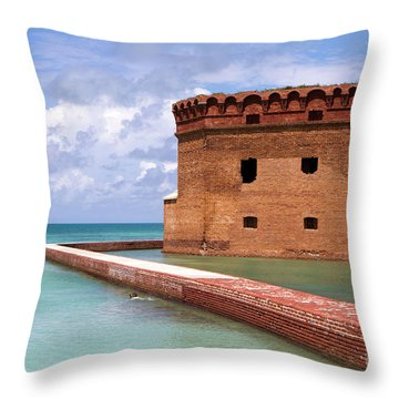 Snorkelers Fort Jefferson Throw Pillow