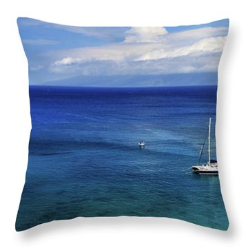 Throw Pillow featuring the photograph Snorkeling In Maui by James Eddy
