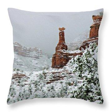 Snow 06-027 Throw Pillow