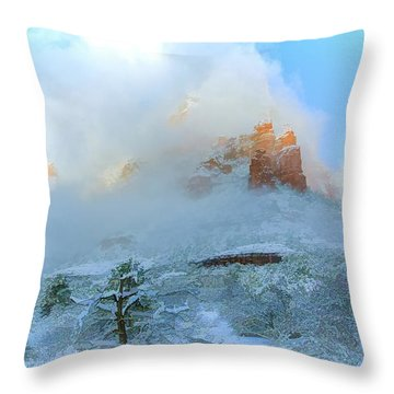 Snow 07-104 Throw Pillow by Scott McAllister