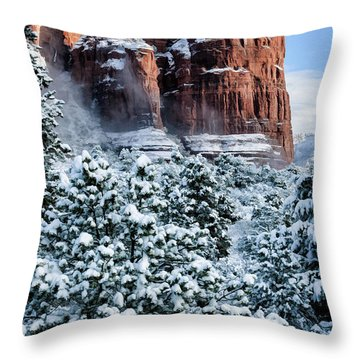 Snow 07-111 Throw Pillow by Scott McAllister