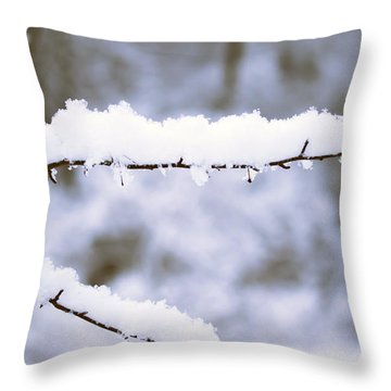 Snow 1 Throw Pillow