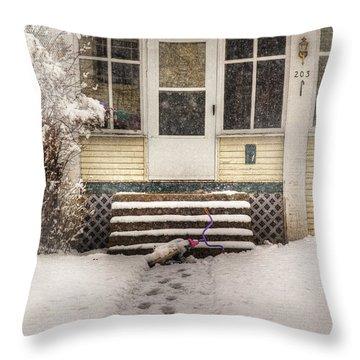 Snow 203 Door Throw Pillow