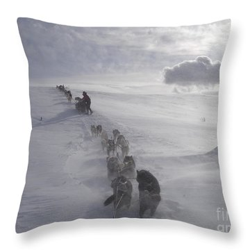 Snow And Clouds Throw Pillow by Sarah Glass