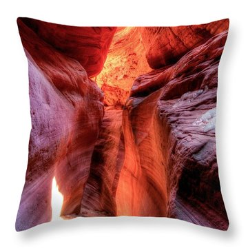 Snow And Fire Throw Pillow