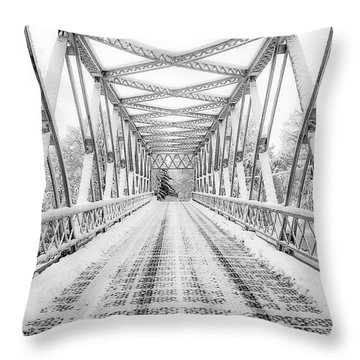 Throw Pillow featuring the photograph Snow Angles by Kendall McKernon