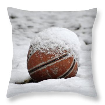 Snow Ball Throw Pillow by Al Powell Photography USA