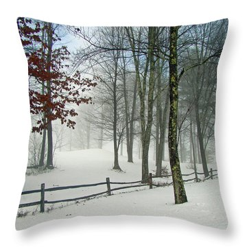 Snow Begins Throw Pillow