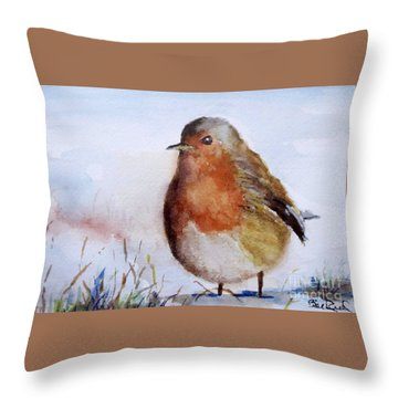 Snow Bird Throw Pillow