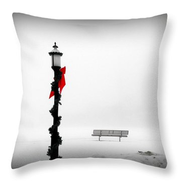 Snow Blind Throw Pillow