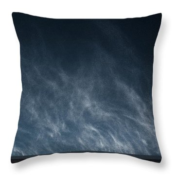 Snow Blown Off A Roof Throw Pillow