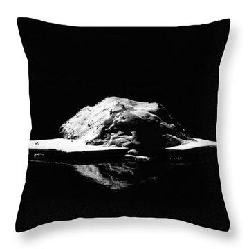 Throw Pillow featuring the photograph Snow Boulder by Britt Runyon