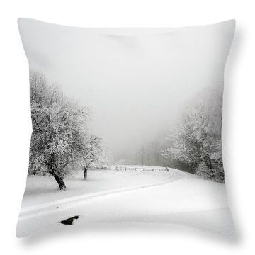 Snow Bound Throw Pillow