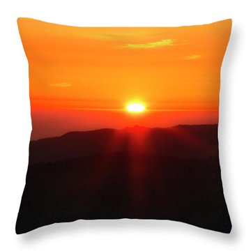 Snow Camp View 2 Throw Pillow by Leland D Howard