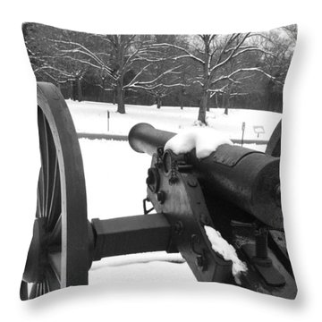 Snow Canon Throw Pillow