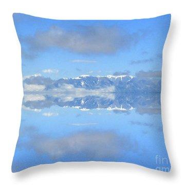 Snow Caps Throw Pillow