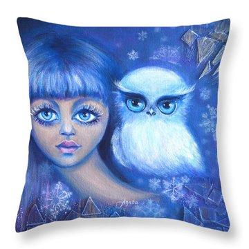 Snow Children Throw Pillow