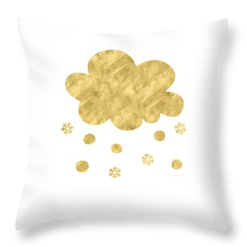 Snow Cloud- Art By Linda Woods Throw Pillow