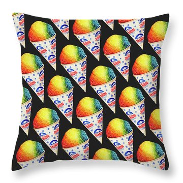 Snow Cone Pattern Throw Pillow