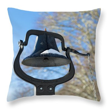 Snow Covered Bell Throw Pillow