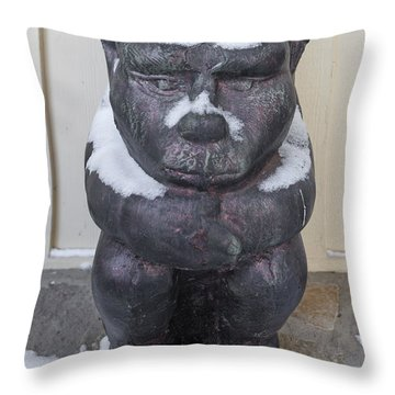 Snow Covered Chimera Throw Pillow