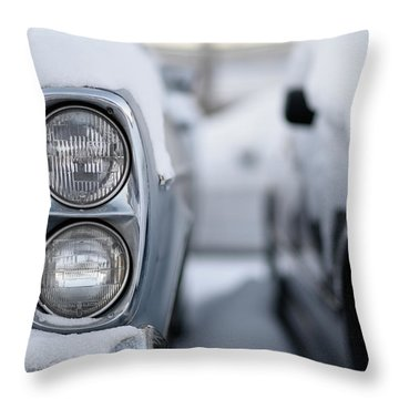 Snow Covered Classic Throw Pillow