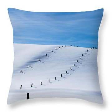 Snow Covered Pasture Throw Pillow