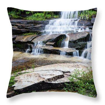 Throw Pillow featuring the photograph Snow Creek Cascade by Tim Newton