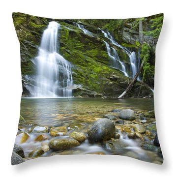 Snow Creek Falls Throw Pillow by Idaho Scenic Images Linda Lantzy