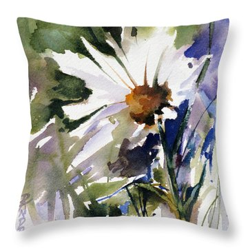 Throw Pillow featuring the painting Snow Dance by Rae Andrews