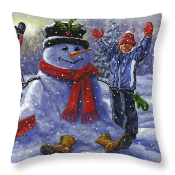 Snow Day Throw Pillow by Richard De Wolfe