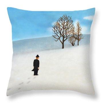 Snow Day Throw Pillow