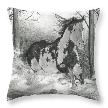 Snow Driftin' Throw Pillow