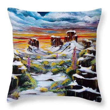 Snow Fine Throw Pillow