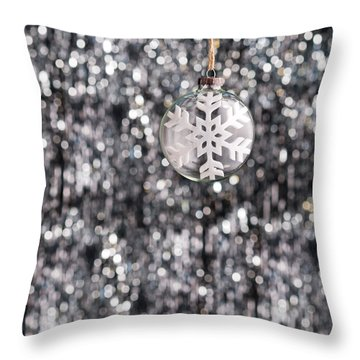 Throw Pillow featuring the photograph Snow Flake by Ulrich Schade