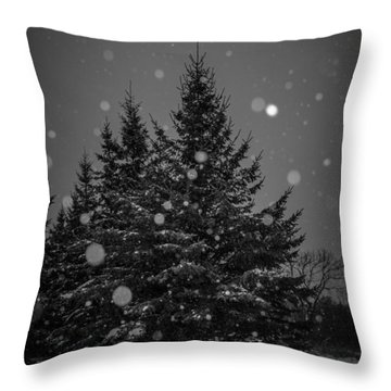 Snow Flakes Throw Pillow