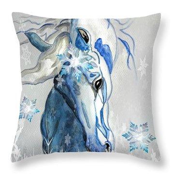 Snow Flakes Throw Pillow