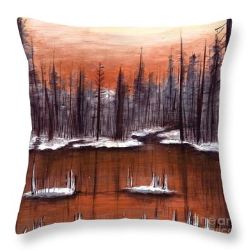 Snow Glow  Throw Pillow