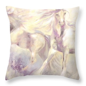 Snow Gypsies Throw Pillow