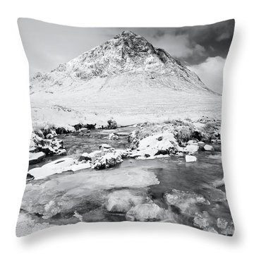Snow In Glencoe Throw Pillow