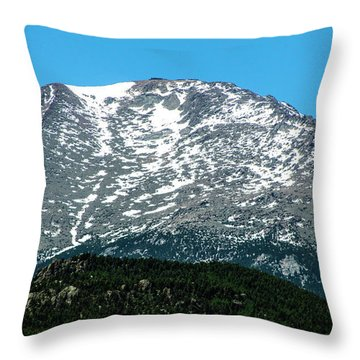 Snow In July Throw Pillow