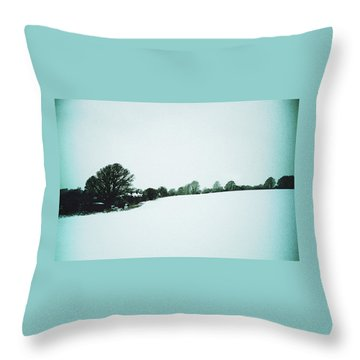 Snow In Sussex Throw Pillow