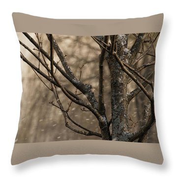 Snow In The Air - Throw Pillow